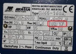 tem máy bơm matra nhập khẩu