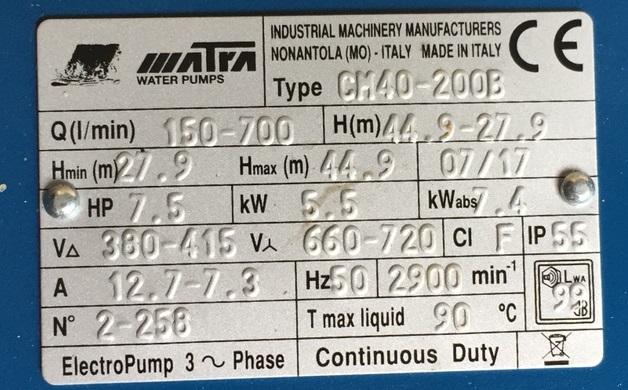 tem máy bơm CM40-200B