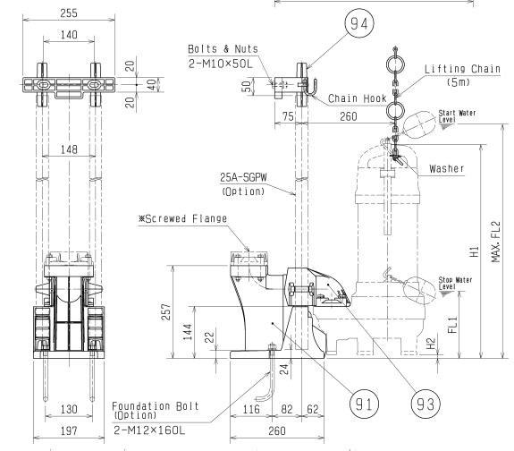 Bảng vẽ chi tiết khớp nối TOK2-65 T