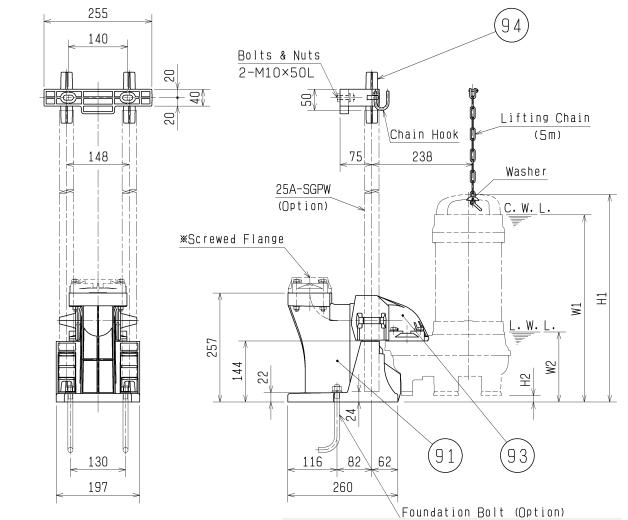 Bảng vẽ chi tiết khớp nối TOK65-2