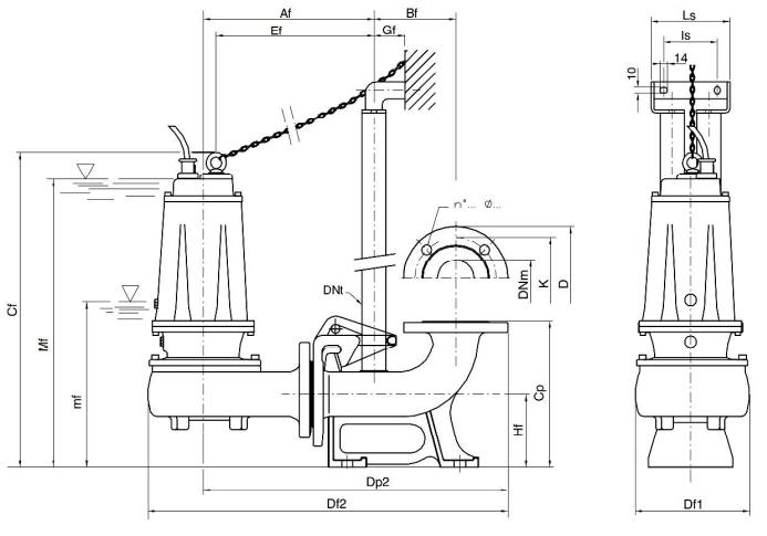 kích thước của máy bơm DMT